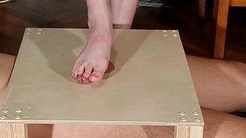 Domina bare feet cock stomping & footjob pt1 HD