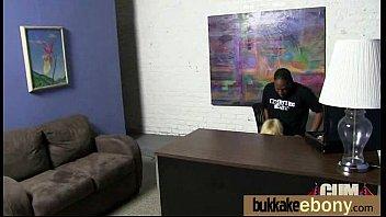 Cum loving teen enjoys huge bukkake 2