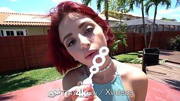 TINY4K Filled Up Tiny Teen Creams All Over HUGE Dick thumbnail