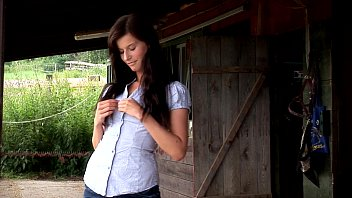 Megan Cox Masturbates Outdoors. See Her Getting Hot In The Hay. 10 min