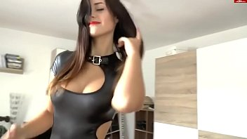 Fuck with girl in latex (home porn, cum on ass, cool tits) 9分钟