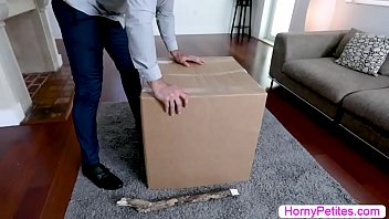 Petite thief Ava Eden gets caught and fucked