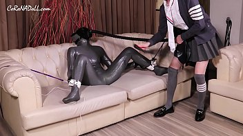 3 layers Zentai GasMask Femalemask with Mistress Abbykitty (Whipping pussy)