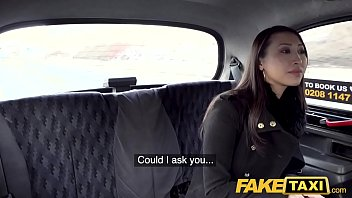 Fake Taxi Busty French Asian babe tries big euro cock at roadside
