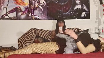 Sexy Domina using her french maidbot for footmassage pt2 HD