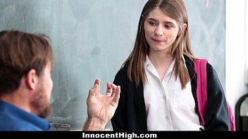 InnocentHigh - Cute Schoolgirl (Alice March) Gives Oral Exam