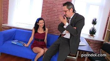 Sweet schoolgirl gets seduced and screwed by older tutor