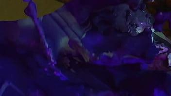 Trap Demon titties Rastaman and cute girls on car 3D sexy - Fumo Interraza - Spingels