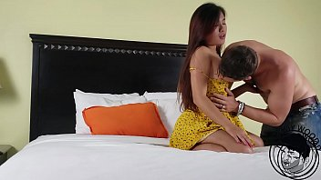 TEEN ASIAN -  ELLE VONEVA - fucked hard with BIG dick in hotel bang fest ,,hot couple 14 min