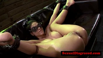 BDSM fetish skank on couch fucked