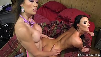 Asian shemale london Shemale in stockings anal fucks stripper