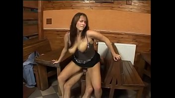 Big tit girl banged in a tavern