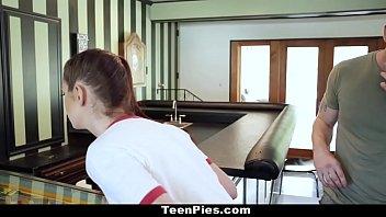 TeenPies - Scarlett Mae Gets Creampied On Pinball Table