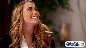 Carter Cruise licked by boss Chanell Heart during interview