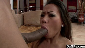 Dagfs - Tight Asian Miley Villa's Pussy Destroyed By Big Black Cock