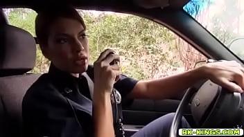 Police Officer Mercedes Carrera deep throat blowjob Markus Dupree