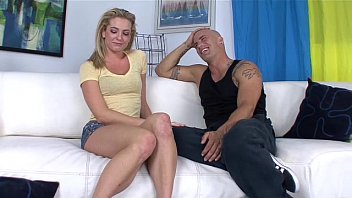 Facial pierceing Bailey blue getting fucked by derrick on the couch