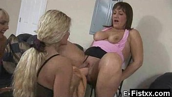lesbian hot shower Mega Titty Fisting Gal Seduced And Rammed