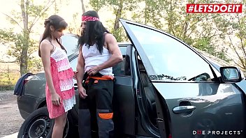 LETSDOEIT - Cute Teen Shrima Malati Bangs With Creepy Perv Guy In Exchange For Some Help With Her Car