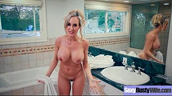 Horny tits movies - Busty horny housewife brandi love enjoy hard style sex action movie-11