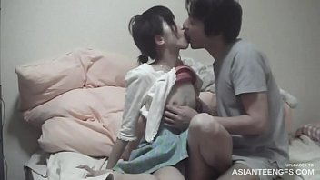 Biggest teen boob Girlfriend from tokyo gives blowjob and gets licked