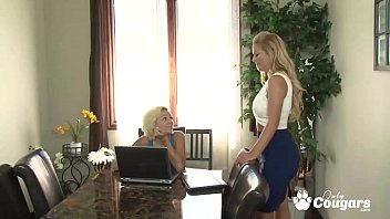 Cherie Deville Slids Her Tongue Inside Harlow Harrison's Sweet Young Pussy