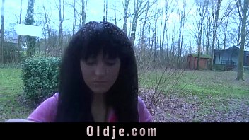Young hottie sucking horny dick of dirty old perv 6 min