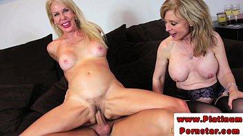 Erica Lauren and Nina Harthley ride cock Vorschaubild