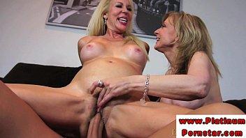 Erica Lauren and Nina Harthley ride cock