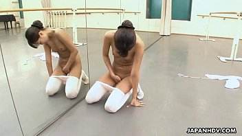 Asian dance moves - Ballerina needs to warm up so she rubs her cunt