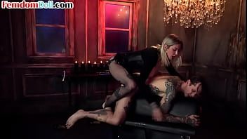 Mean mistress pegging roughly sub with cruel anal treatment