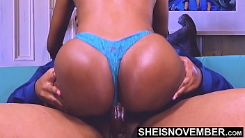 I Creampie Inside Shy Slut Without Her Knowing While She Continues To Ride My Cock, Then Get A Handy And Cumshot Her Fucking Face & Huge Knockers, Double Cumshot Hot Ebony Msnovember on Sheisnovember