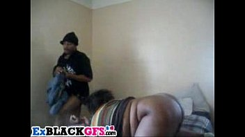 Chubby black GF gets rammed by boyfriend and his bro