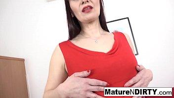 Hot brunette mature is craving an interracial creampie