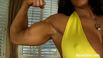 Aziani Iron Angela Salvango female bodybuilder nude preview image