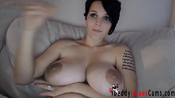 German Babe With HUGE Tits Masturbates With Dildo - daddyissuescams.com