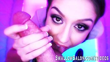 Sexy Catalina Ossa Sucks Cock in Salon