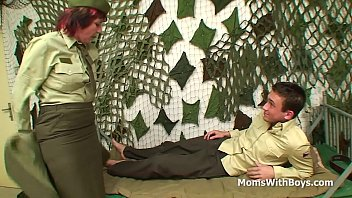 Pierced Pussy Lady Officer Fucks A Soldier