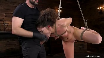Brunette slut is anal fucked and fisted