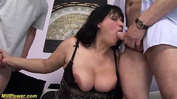 busty bbw moms first double penetration 12 min
