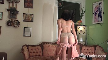 Fetish spanking Brunette coral spanking her ass and masturbating her pussy