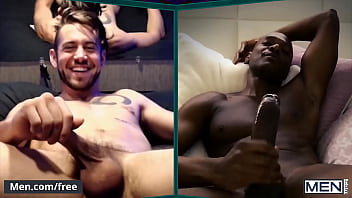Six Men Get Together On A Video Call Some Fuck Their Holes With Dildos While Others Stroke Their Dicks - Men