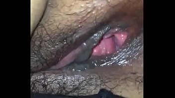 Hairy asshole and drenched vagina