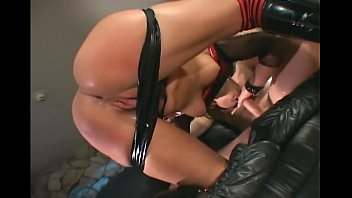Anal in boots and stockings