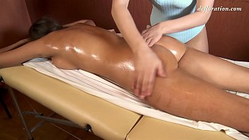Super hot first time massage of virgin pussy 6 min