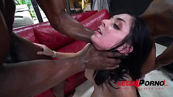 Tiny And Fiery Keira Croft Fucked Hard By Two Big Black Cocks