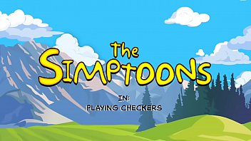 Playing Checkers - The Simptoons