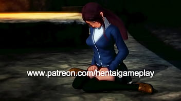 Cute girl hentai having sex with a green goblin man in hot animated manga video with gameplay 3d hentai