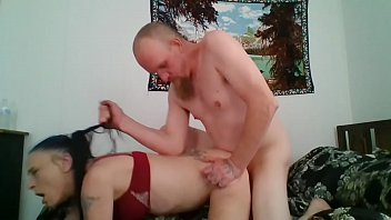 Skinny Gothic Chick Gets a Good Spanking at the In Laws