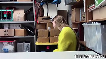 Busty Blonde Russian Teen Thief Nadya Nabakova Fucked By Corrupt Store Officer 7 min
